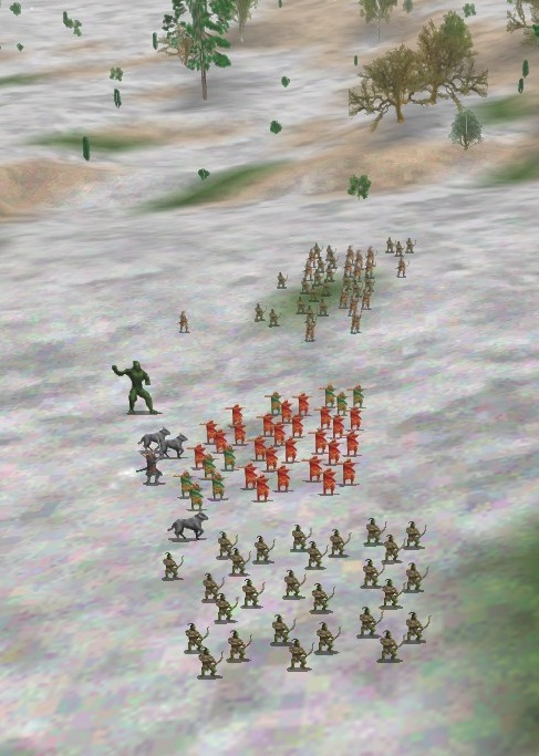 This is an awful army formation for fighting human-controlled players, but it's tremendous against AI