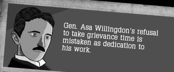 The most frightening thing of the year isn't even General Asa Willingdon's dead eyes