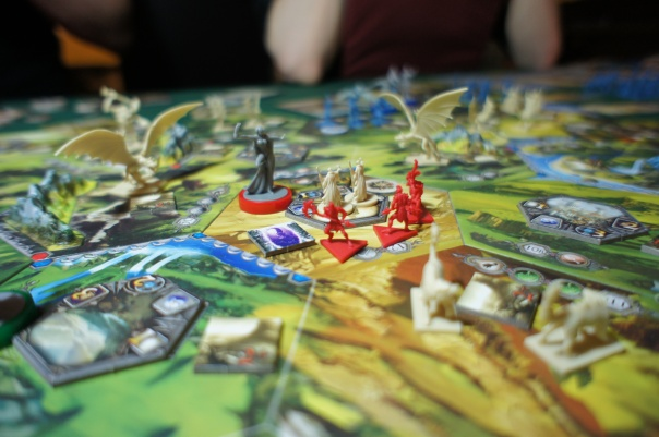 We decided that the dragons just looked cool there, and fit thematically. The game has rules governing map setup, and they wouldn't normally be there.