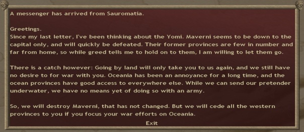 It turns out that Marverni and Oceania are friendly with one another. Not entirely a shock. Marverni had informed me of their dalliances with Oceania, but I like to think it was the wheels-within-wheels-within-wheels type of scheming.