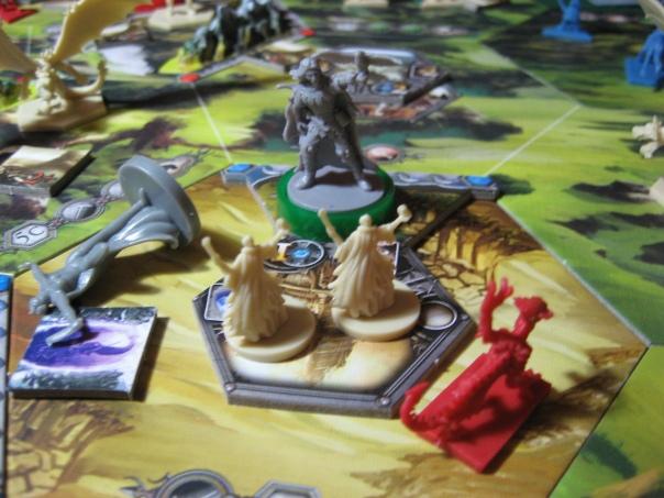 Vyrah holds his falcon aloft and announces himself the winner!