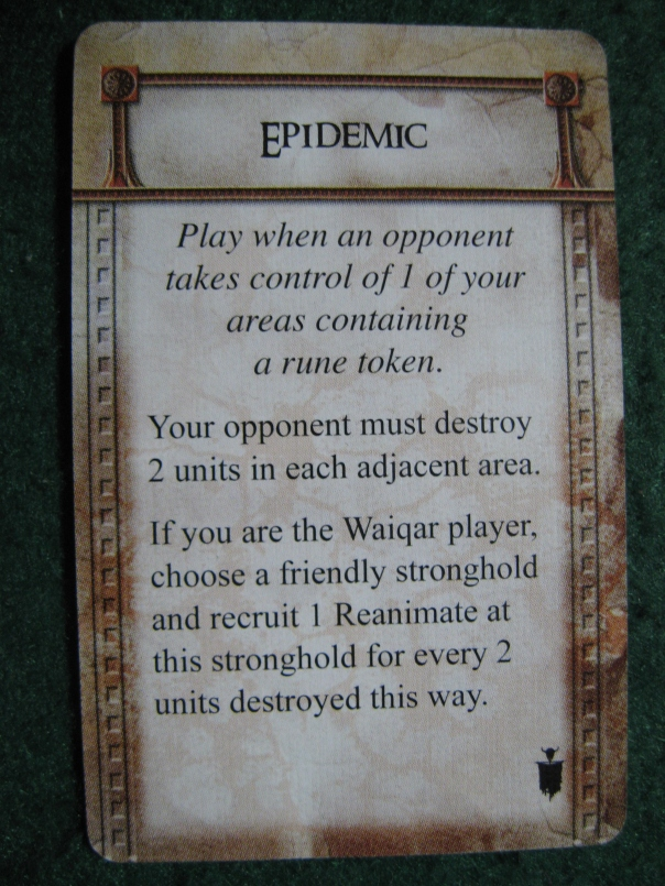 It's a bit sad that Waiqar didn't think of using diseases before, considering that all his troops are walking dead.