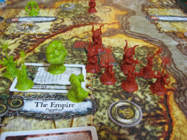 The pieces are bright to help with board readability, but they wreak havoc on my camera's ability to focus.