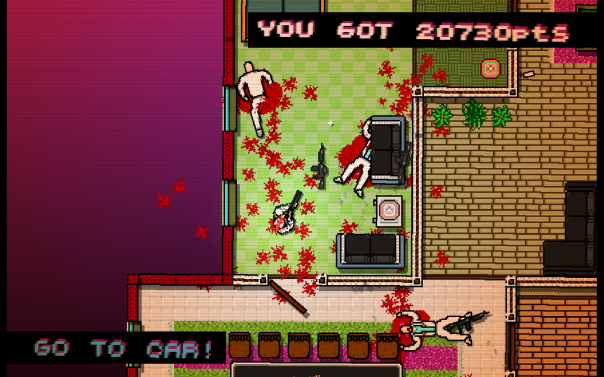 Hotline Miami is more than the sum of its parts. Good action, good thinking, good music. Terrifying results.