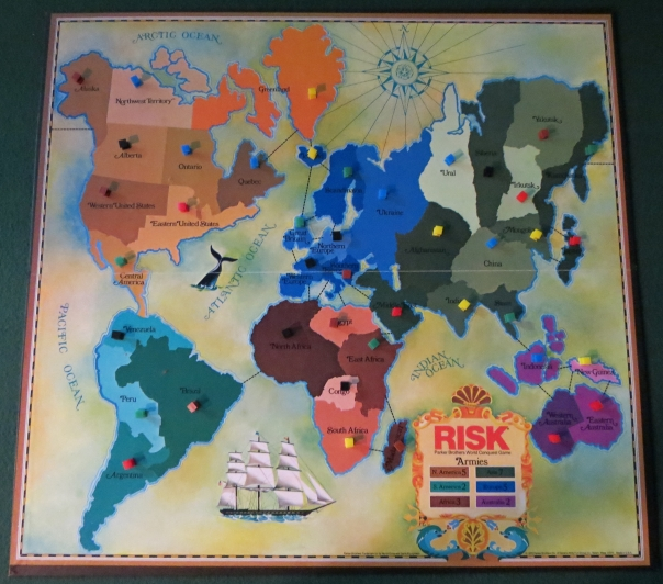 Really small by my standards today. In fact, all of that copy of Risk was small.