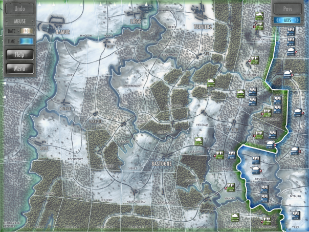 I'll get the biggest point of criticism out of the way right now: There's only one map, and two scenarios (3-day and 13-day engagements), which you can play from either side.