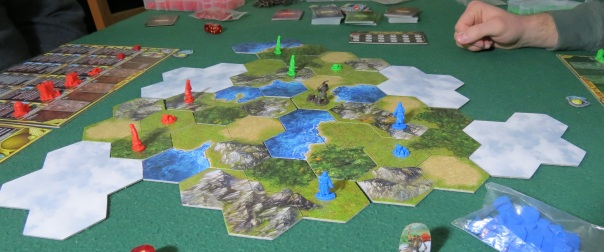 The exploration part only lasts the first few rounds of the game, but it still creates an interesting dynamic map and gives everyone that thrill of discovery that can only be felt by flipping over tiles to reveal the vast unknown. It's a great filler mechanic, since it gives everyone something to do until the real meat of politics and cultural competition kick in.