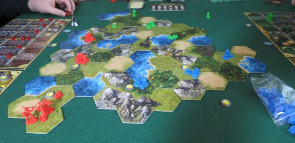 There was another tribe of barbarians at the bottom-left, but you can see the red army (mine) wiped them out handily.
