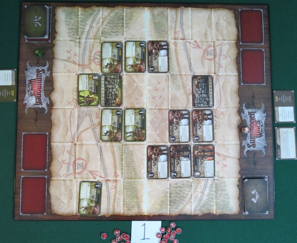 One thing to keep in mind is that this wasn't exactly a balanced matchup in the first summoners' version. While either side could win if played well, the Cave Goblins were definitely the harder team to master, and were highly dependent on drawing the proper events in a certain order; the Guild Dwarves, while not outstanding in any one area, possessed very few weaknesses. So one of my prime interests in this new matchup is to see if these decks are any more immediately balanced than the originals.