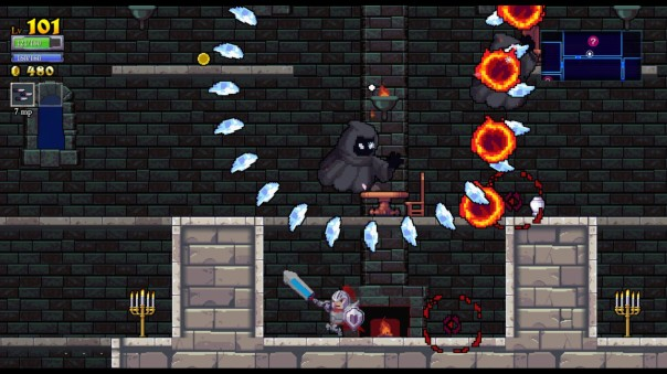 Reason To Buy Rogue Legacy #1: It was so exciting that I didn't take any pics during the action, so this single action shot was stolen from the Steam gallery.