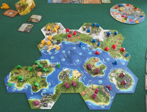 "I find it funny that the ""open sea"" tile where everyone starts is actually right smack dab in the middle of a massive archipelago. They missed all the islands on the way in, I guess."