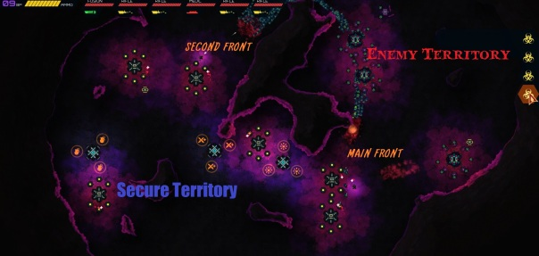 Maybe I should have done this battle report on a map with less glaring colors...