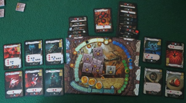 Don't mess up tucking those skills or monster trophies under your board, or you'll have to rearrange the whole mess.