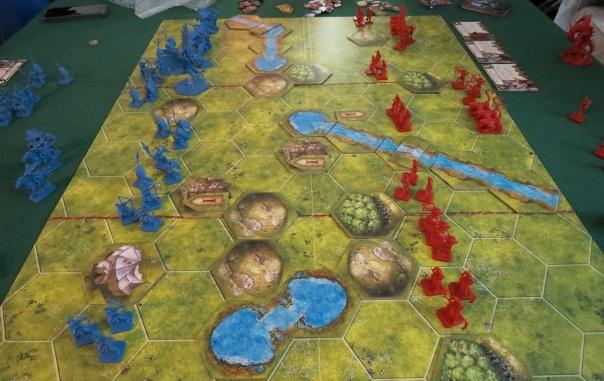 Warning: Weak Right Flank, Blue.