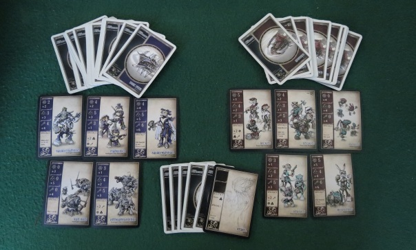 You can tell these are prototypes by the Kraken card's sketch art.