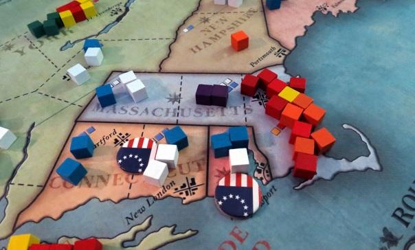 "An invading force of Hessian mercenaries ""liberates"" Boston."