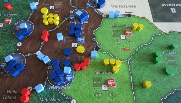 And very well, it appears. The FARC player must not care much about building bases.