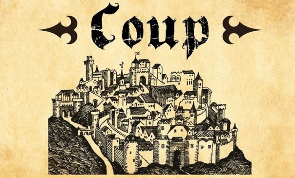 Ah, a beautiful woodcut of a city state, begging to be coup-ed. So much better than that weird Resistance art on the newer edition, with that gal wearing elephant reins or whatever they're supposed to be.