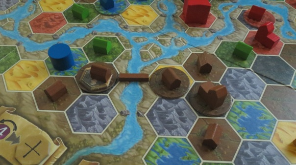 I really felt the bridge shots showed off Terra Mystica at its most dynamic.