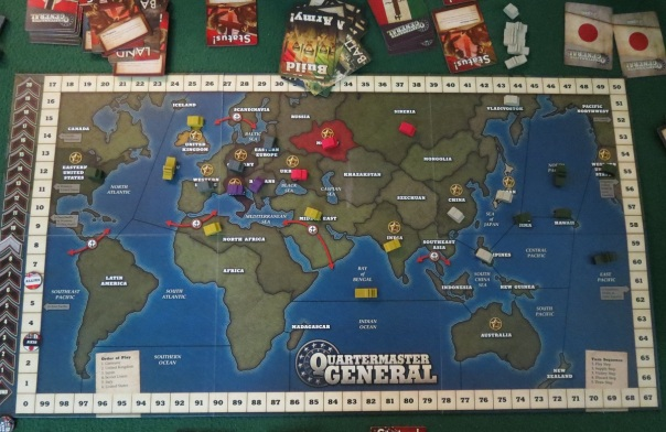 WHAT A QUARTERMASTER GENERAL DOES: plots global domination.