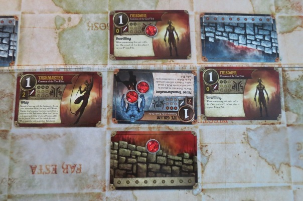 Summoner Wars went and got grim, as you can see. Poor little Prisoners.