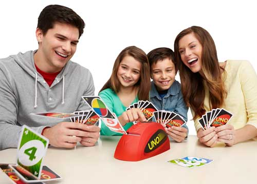This is the only time we are so happy! Leave a comment below about how Uno makes your family similarly happy!