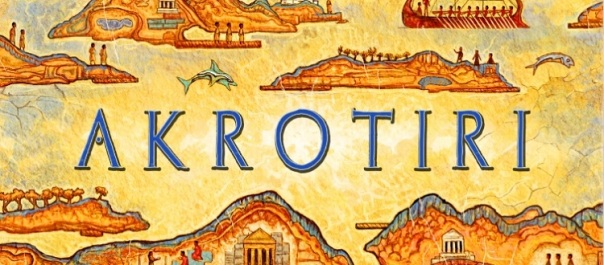 The graphic designers have sadly failed the first rule of cutsey Minoan-era art: The happy dolphin must always dot the i.