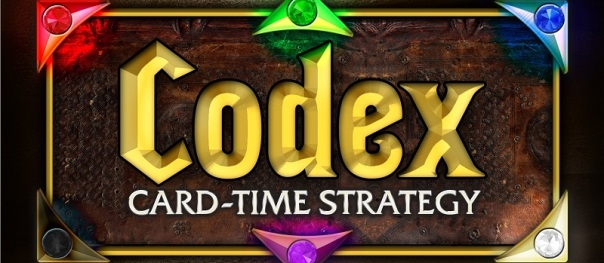 Oooh, a game about a codex! A portion of my education revolves around the way the history of writing traces from scrolls to wax tablets to codices, and how it might have been Julius Caesar himself who first bound papyrus into a notebook-style codex, or how— ... oh, it's a game about dueling wizards.