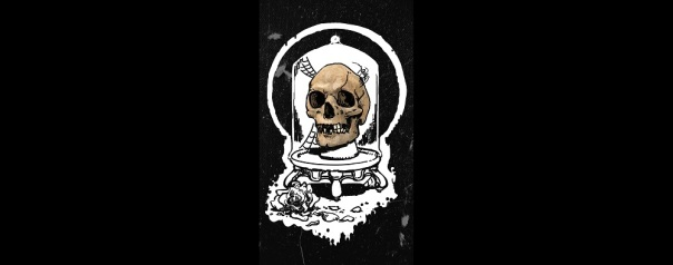"""""""Roses are for wimps,"""" the skull clattered."""