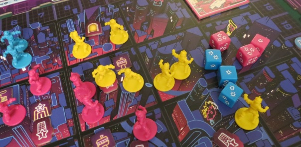 Also the neon dice will sear your retinas. Then you have literal floaters.