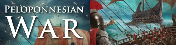 This cover makes Peloponnesian War look SO RAD AND HARDCORE. Don't worry, the game itself is quite dry and contemplative.