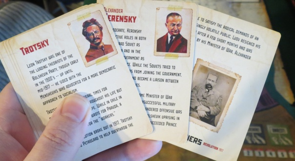 "Trotsky's expression is all, ""I did all this shit and I'm worth a couple of paragraphs on a capitalist-produced board game card?!"""