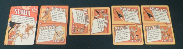 """I don't like responding to other people's reviews, but one mentioned how each character's unique set of cards would be """"too much"""" for an alpha player to internalize. Um, what? There are four cards per player. Most of the actions are shared. There isn't """"too much"""" information to internalize. Who can't memorize four actions?"""
