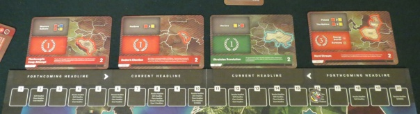 I'm convinced that the best CDGs have some uncertainty in their scoring criteria. The scoring cards of Twilight Struggle, the wars in Imperial Struggle, the reveals in Watergate, the bluffs in 13 Days... too much information is another form of too much permissiveness.