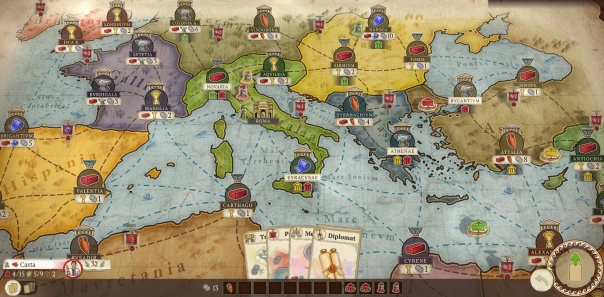 Fun fact! Historically, the Mediterranean has never been used for trade. That's why it's such a novel board game setting.